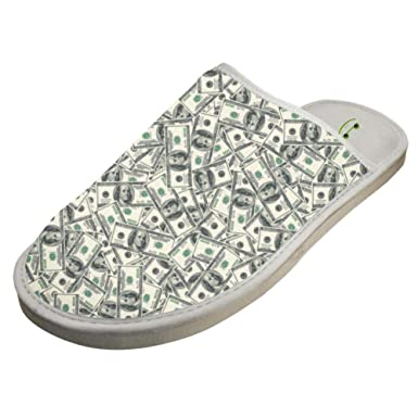 9c7c90995855a Amazon.com: JJZZA Adult Cool Design House Slippers,American Dollars ...