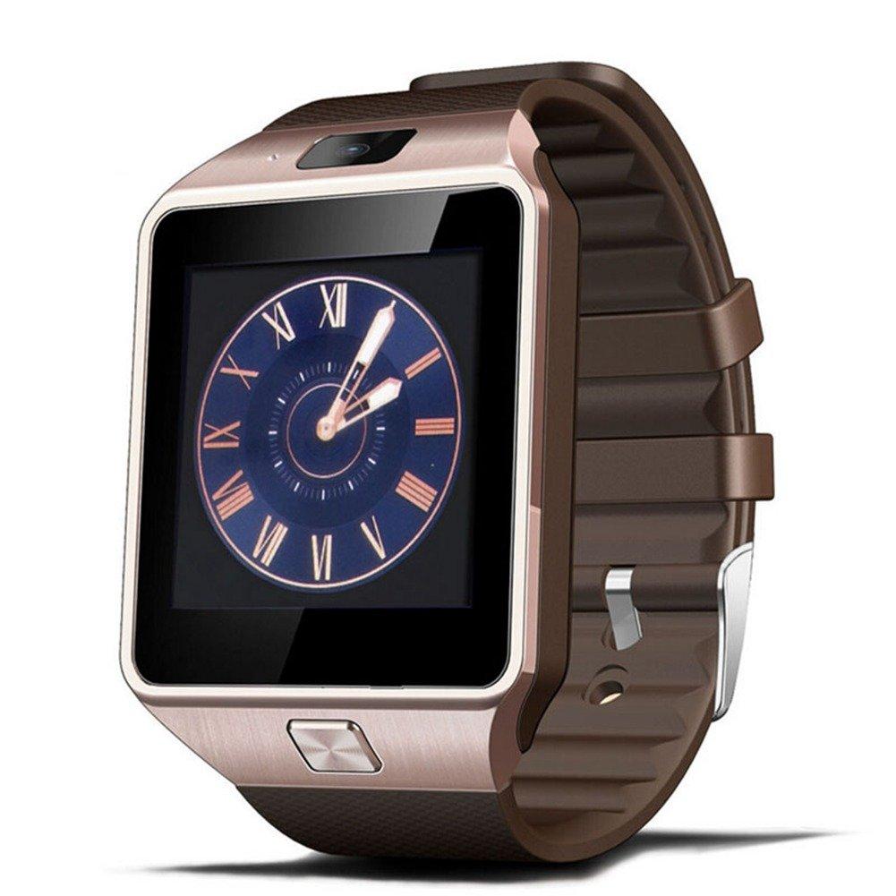 Reloj Inteligente, Jukkarri Reloj Deportivo de Actividad, Reloj con Bluetooth y Ranura para Tarjeta SIM para Usar Como Teléfono Móvil, Podómetro ...