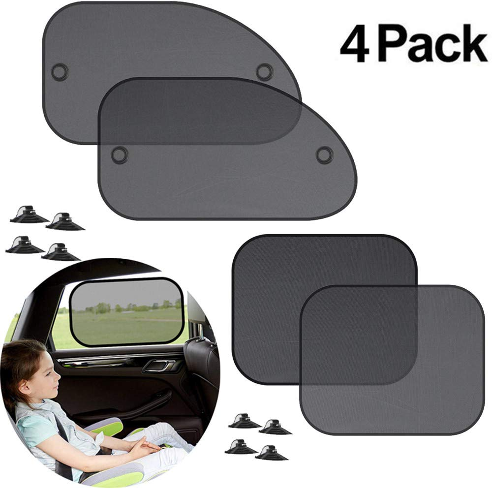 Quaanti 1/2/4/5Pcs Car Cover Sunshade Mesh Sun Visor Car Side Window Screen Sunshade Car Curtain Car Interior Product Cover Visor Shiel (D/4PC)