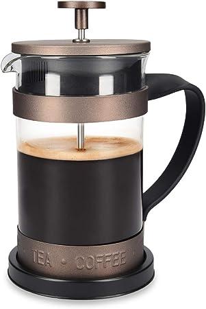 Navaris Cafetera Francesa de Acero Inoxidable de 600ML - Cafetera ...