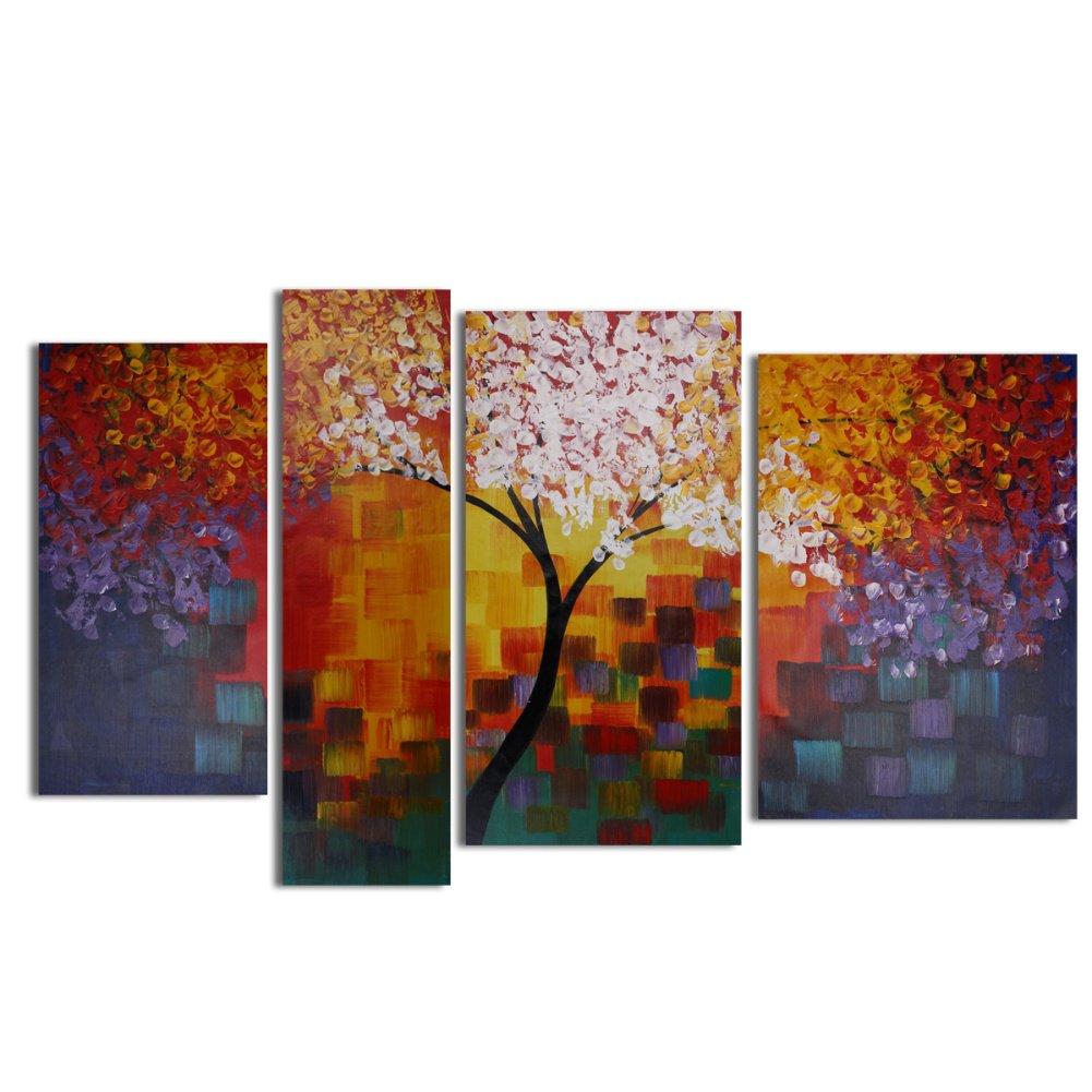 ... Auf Leinwand   Ölgemälde Moderne Abstrakte Bilder Große   Wandbilder  Landschaft Herbst Baum Bunt Blätter Warme Farben Für Home Decoration  Schlafzimmer, ...