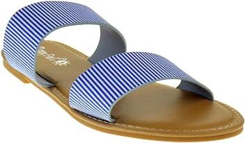 5fcae266d Sunny Feet Coastline 72S Womens Dual Strap Open Toe Colorful Flat Sandals