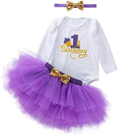 K-youth Vestidos Bebé Primer Cumpleaños Niñas Tutú Vestido de ...