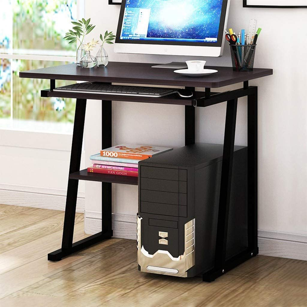 Desktop Computer Workstation Desk,Study Writing Desk with Storage Shelves and Pull-Out Keyboard Tray for Home Office