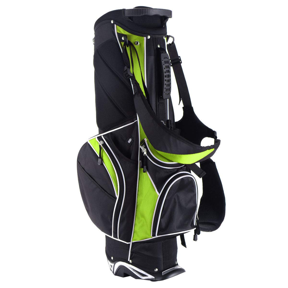 Globe House Products GHP グリーンポリエステル生地 アルミラバー&PPプラスチック 6分割 ゴルフスタンドバッグ