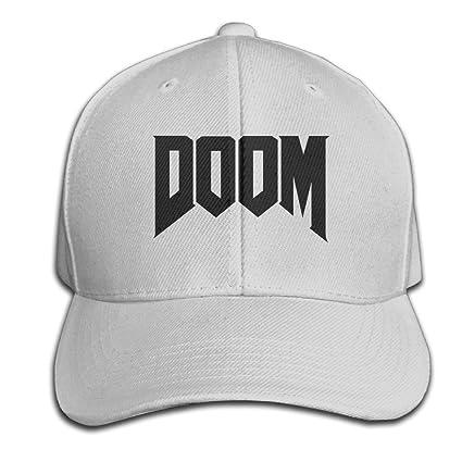 0f37330ea21 Amazon.com   ROUNG Doom 4 Logo Baseball Cap Ash   Sports   Outdoors