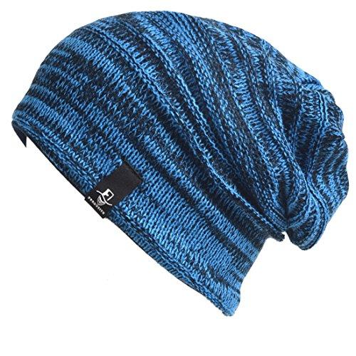 Price comparison product image Toddler Infant Kids Cap Baby Knit Beanie Skull Cap Winter Hat B5022k (Retro-Blue)