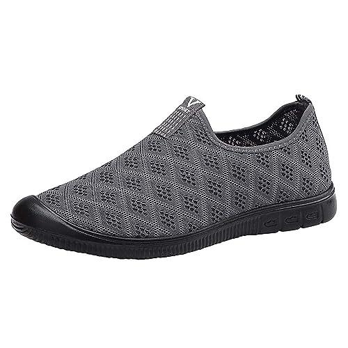 AMUSTER Sneaker Scarpe Uomo Bianche Estive Senza Lacci