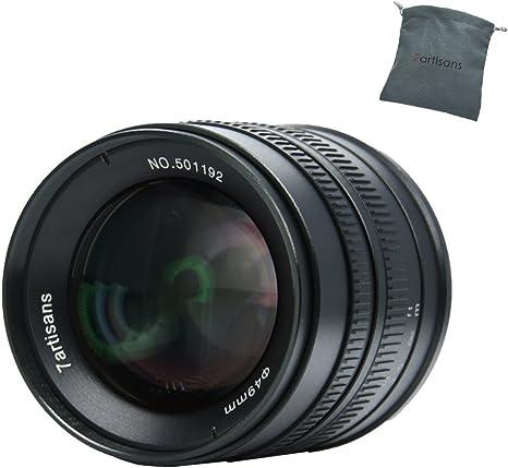 7artisans 55mm F1.4 APS-C Lente Fija Manual para cámaras de Montaje Olympus Panasonic M43 M4 / 3: Amazon.es: Electrónica