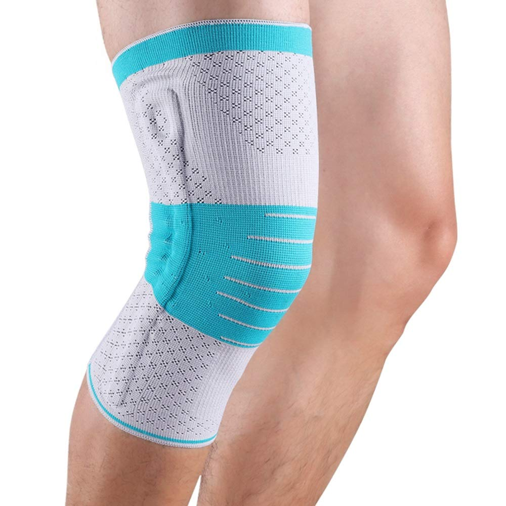 Professional Meniscus Injury Knee Pads Sports Men and Women Running Badminton Basketball Fitness Winter Warm Predective Gear New decrementing Pressure to Strengthen Double Bombs (Size   M)