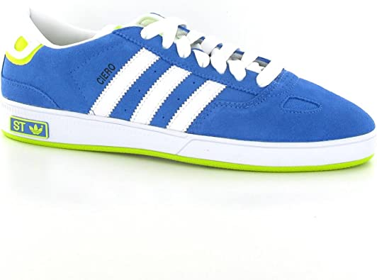 adidas blue leather trainers