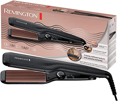 Remington S3580 Fer à Lisser, Lisseur Ceramic Crimp, Tourmaline, Antistatique, Ionique, Glisse Facile