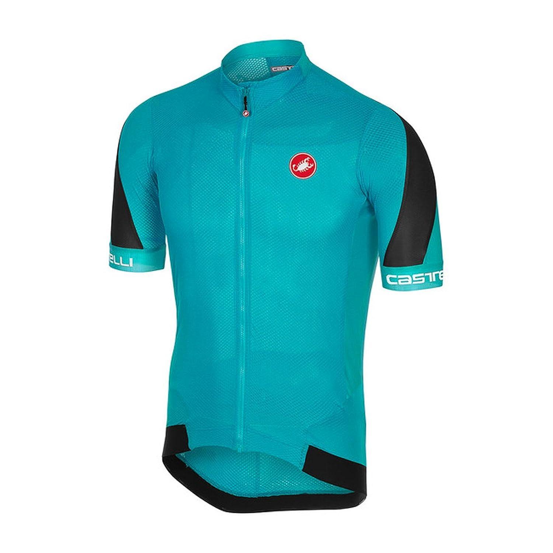 CastelliメンズVolata 2 Bike jersey fz B07B4CQZC8  Sky Blue/Black X-Large