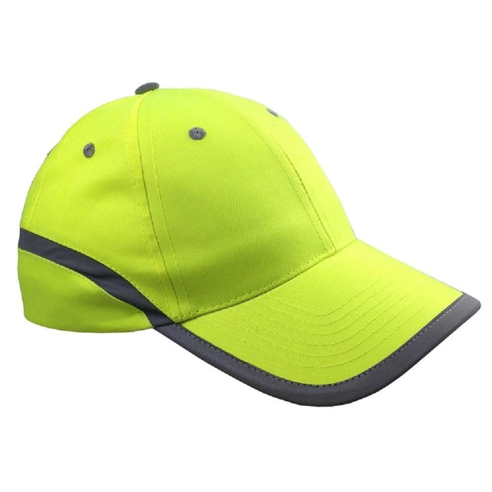 Hi vis high viz basball cap hat peaked visor reflective pro climate