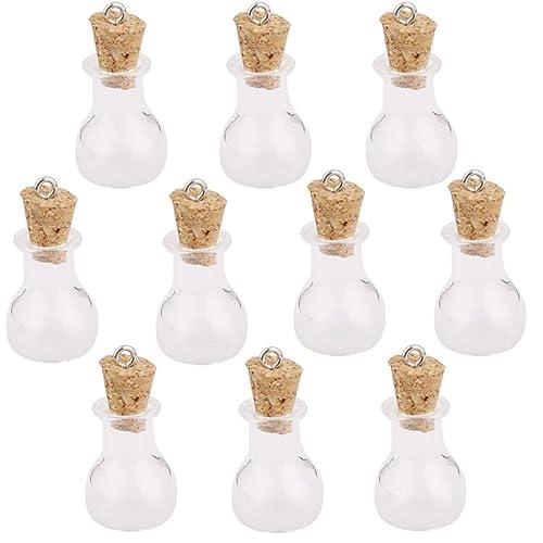 10 Stk. Glaskorken Flaschen Gläser Fläschchen Wunsch Flaschen ...