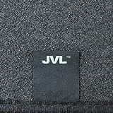 JVL Rectangular Slip Resistant Carpet Indoor Garage Hallway Motorbike Floor Protector Mat, 183 x 59 cm, Black