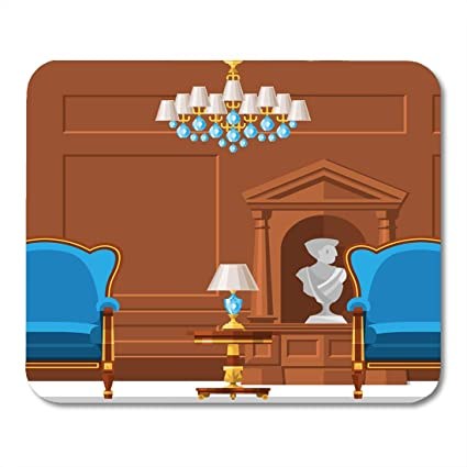 Charming Boszina Mouse Pads Armchair Antique VIP Vintage Interior Furniture Rich  Wealthy House Room With Sofa Brick