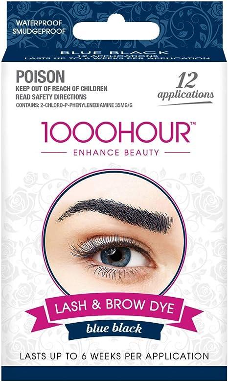 1000 horas para cejas y pestañas tinte/tinte kit permanente pestañas (color azul) por 1000hour