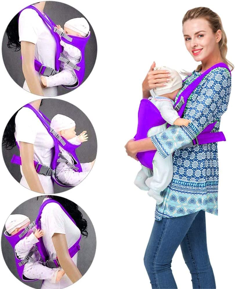 Baby Carrier Ergonomic Hip Seat Sling Adjustable Backpack Detachable Seat Infant Carrier with Shoulder Strap for Newborn to Toddler from 0-24 Month Navy