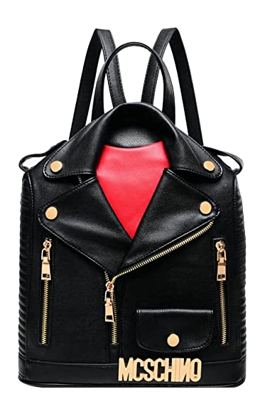 27d83dec7537 Image Unavailable. Image not available for. Color  ilishop Women s Fashion  Motorcycle Jacket Backpack Handbag (Black)