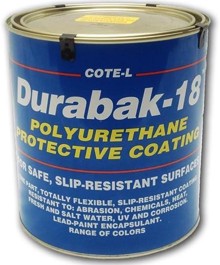 Durabak18 Textured-Gal-Non Slip Coating Boat Deck,Construction-ORANGE Bedliner