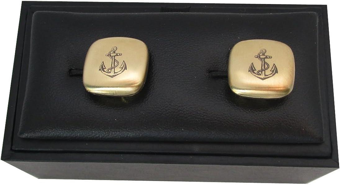 Box Anker Button Toppers Manschettenkn/öpfe z /Überziehen vergoldet MATT Made in Germany