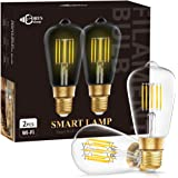 DORESshop Wi-Fi Smart LED Light Bulb, E26 Dimmable 10W(75W Equivalent) Vintage Edison WiFi LED Edison Bulb, ST64 Antique…