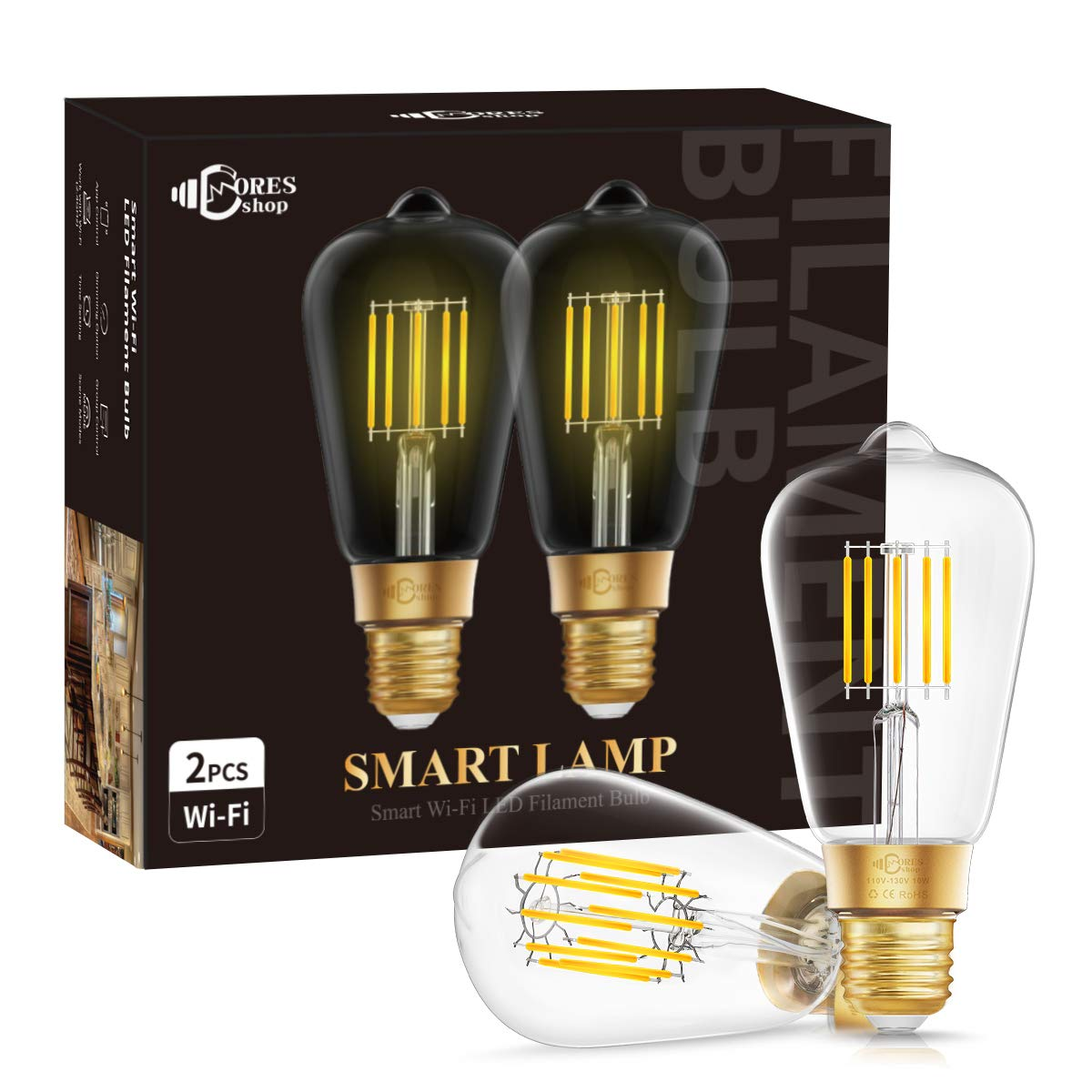 DORESshop Wi-Fi Dimmable Smart LED Light Bulb