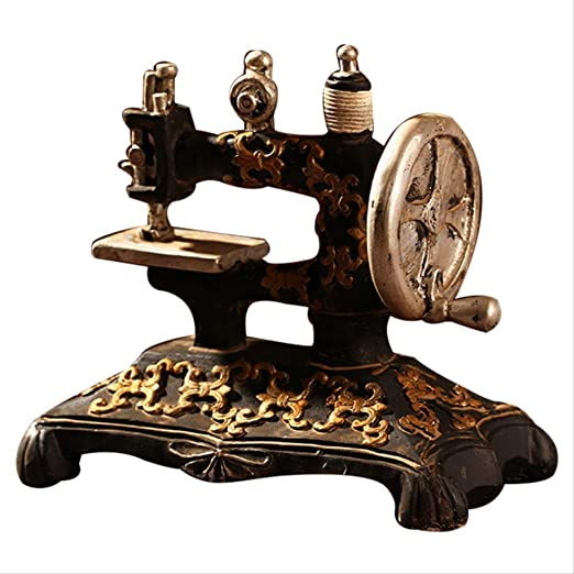DOUYA Objetos Decoracion Modernos Máquina De Coser Retro Modelo Adornos Muebles De Resina Antigua Máquina De Coser Miniatura Craft Bar Café Decoración del Hogar Regalos: Amazon.es: Hogar
