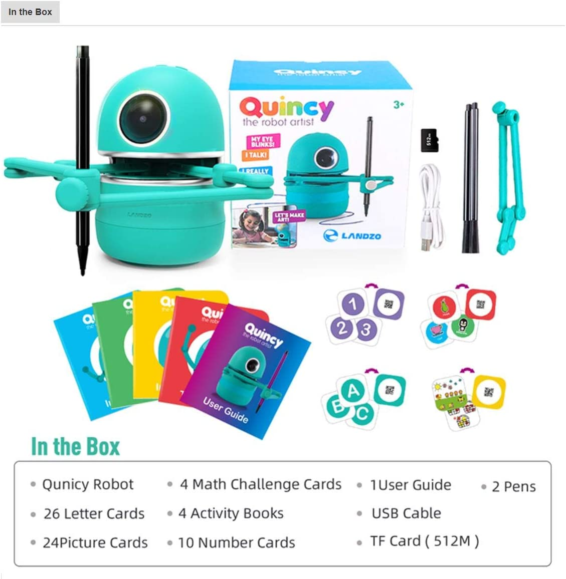 Includes Math and Alphabets Learning Cards Drawing Art Toy for Boys and Girls Nika Industries The Best The Robot Artist