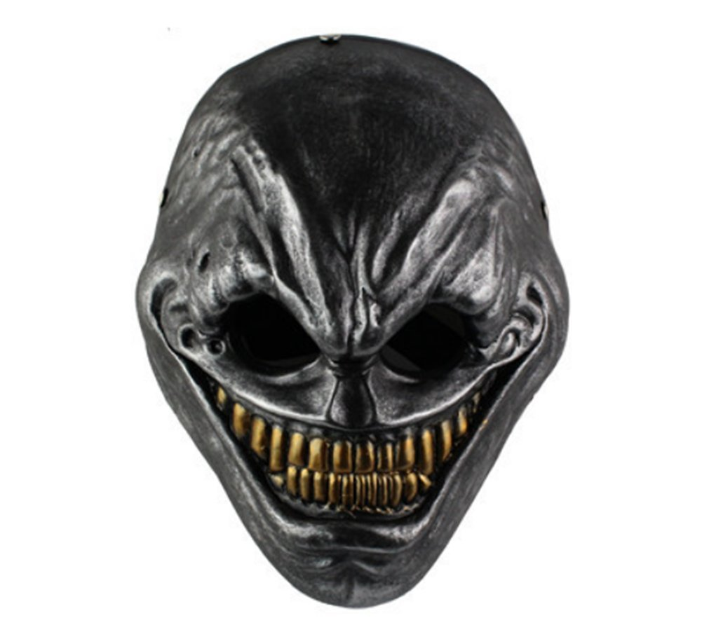 Gmasking Resin Payday 2 The Grin Cosplay Mask Replica+Gmask Keychain (Sliver)