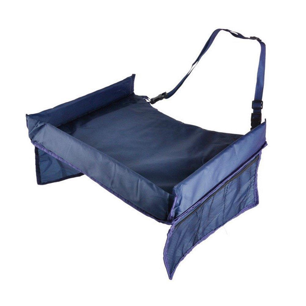Sookg - Bandeja de almacenamiento impermeable para silla de comedor de coche para niños y padres (color azul)