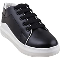 RINDAS Women's   Ladies   Females   Girls Comfortable, Synthetic Leather, Shoes College Wear   Casual Sneakers