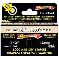 Arrow Fastener 1508 Genuine ET150 1/2-Inch Staples, 5,000-Pack by Arrow Fastener