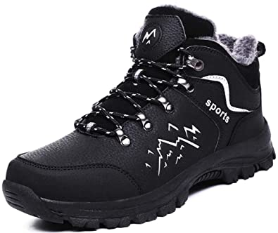 NEW Winter Fur Lined Mens Safety Warm Work Boots Mens Hiking Outdoor Shoes