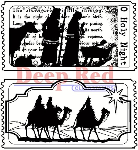 - Deep Red Stamps Tickets to The Nativity Rubber Stamp