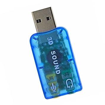 Tarjeta Sonido Externa Usb 2 canales 2.0 5.1 Virtual 3d Sound ...
