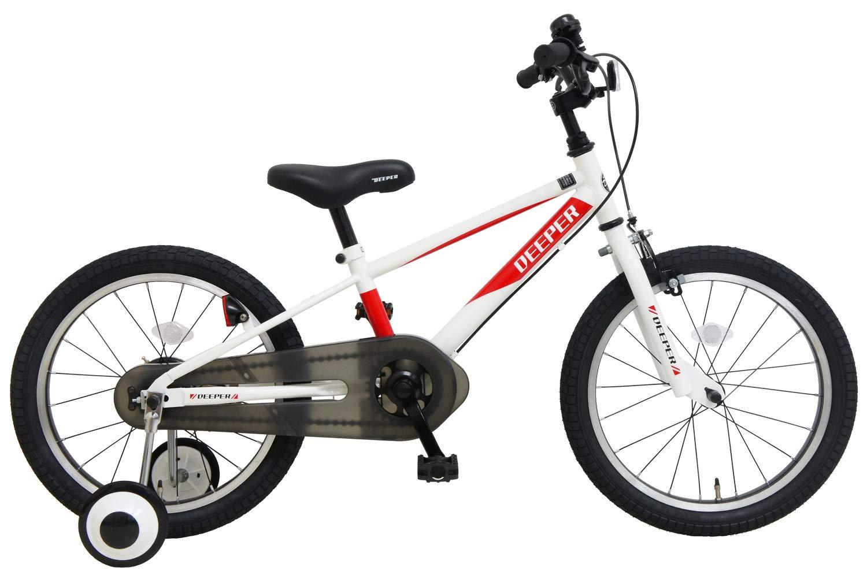 海外ブランド  子供用自転車 子供用自転車 18インチ DEEPER 補助輪付き D-18TPB BMXタイプ 補助輪付き D-18TPB ホワイト×レッド B07KF1DFQJ, イサミ:e92ac124 --- martinemoeykens.com