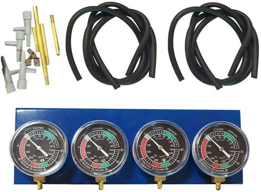 Negro Azul 3 O 4 Cilindro Motores Moto Universal Moto Vac/ío Carburador Sincronizador Synchronization Balanceador Carburador Sincronizaci/ón Equilibrio Calibre Kitsuitable Para 2