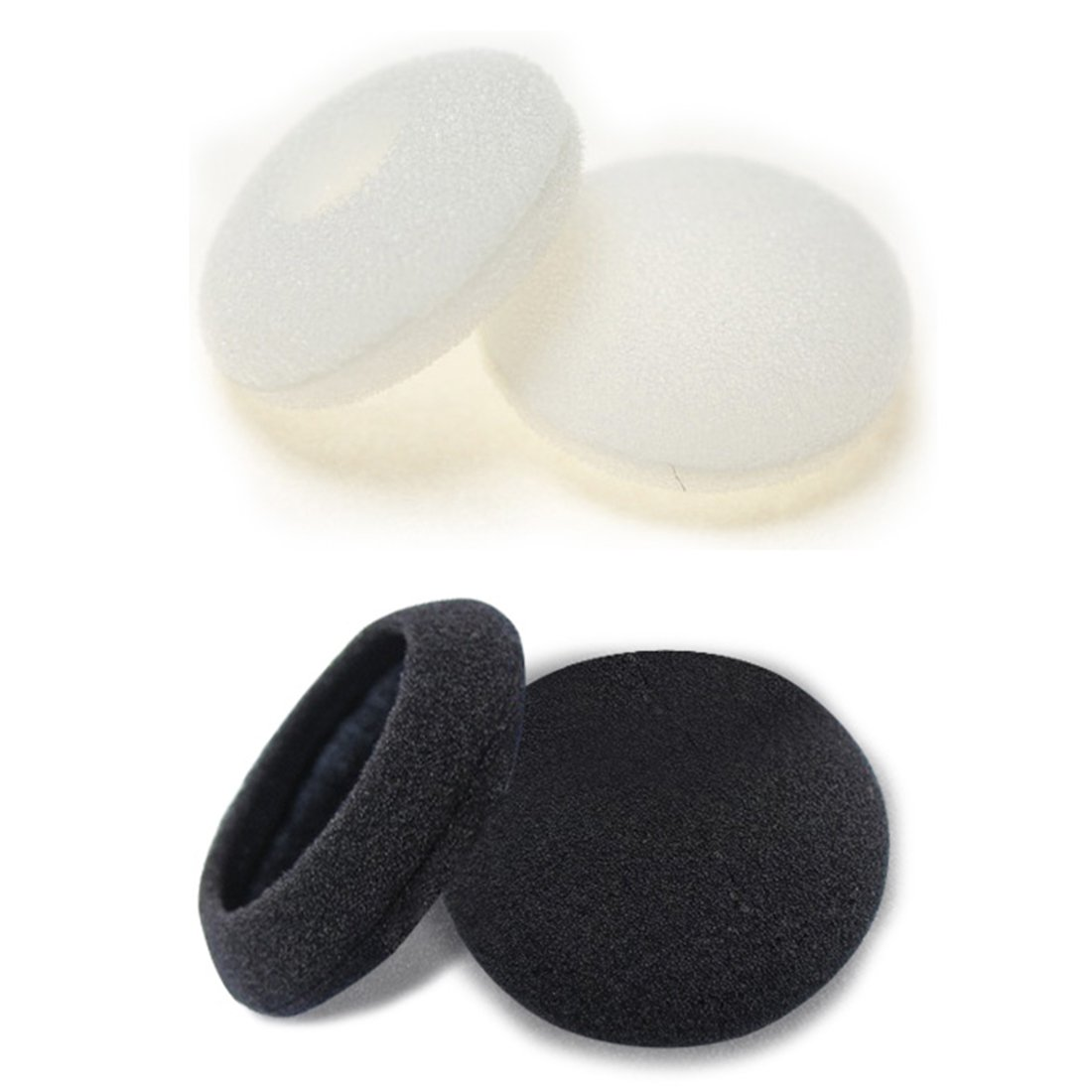 uxcell 100 Pcs Black Sponge Earbud Headphone Cap Ear Pads Cover Replacement