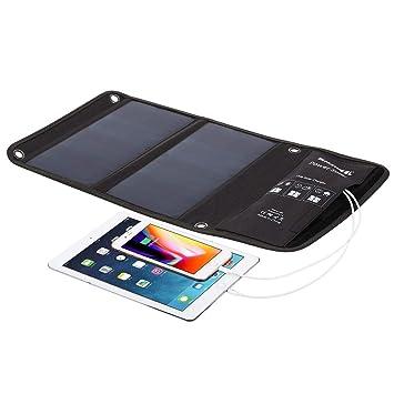 Viqie Cargador solar para teléfono Batería externa plegable ...