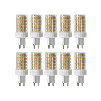 ONLT 10PCS G9 10W Regulable Bombilla LED,6000K 950 LM 86 X 2835 SMD,