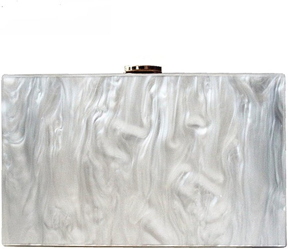 Dirmmis new wallet fashion women messenger bag pearl Acrylic Clutch pure white shoulder Evening bag