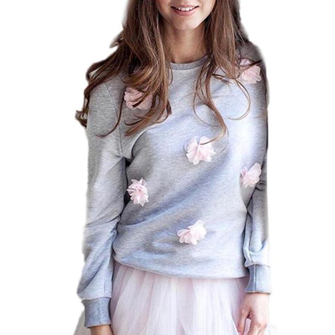 Las mujeres de moda de manga larga blusa tops, Yannerr suelta casual largo suéter Jersey