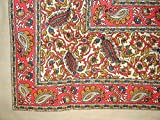 Jaipur Vine Paisley Tapestry Cotton Bedspread 106'' x 70'' Twin Pink