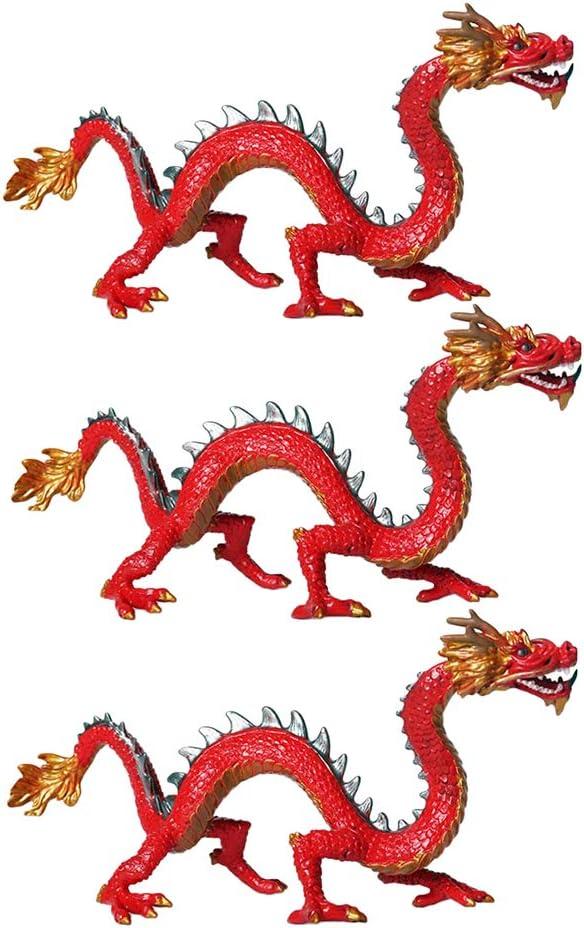 CUTICATE 3 Unidades Figuras de Dragones Chinos, el Juguete ...