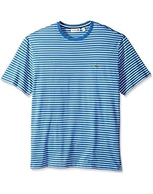 Men's Crewneck Jersey Stripe T-Shirt