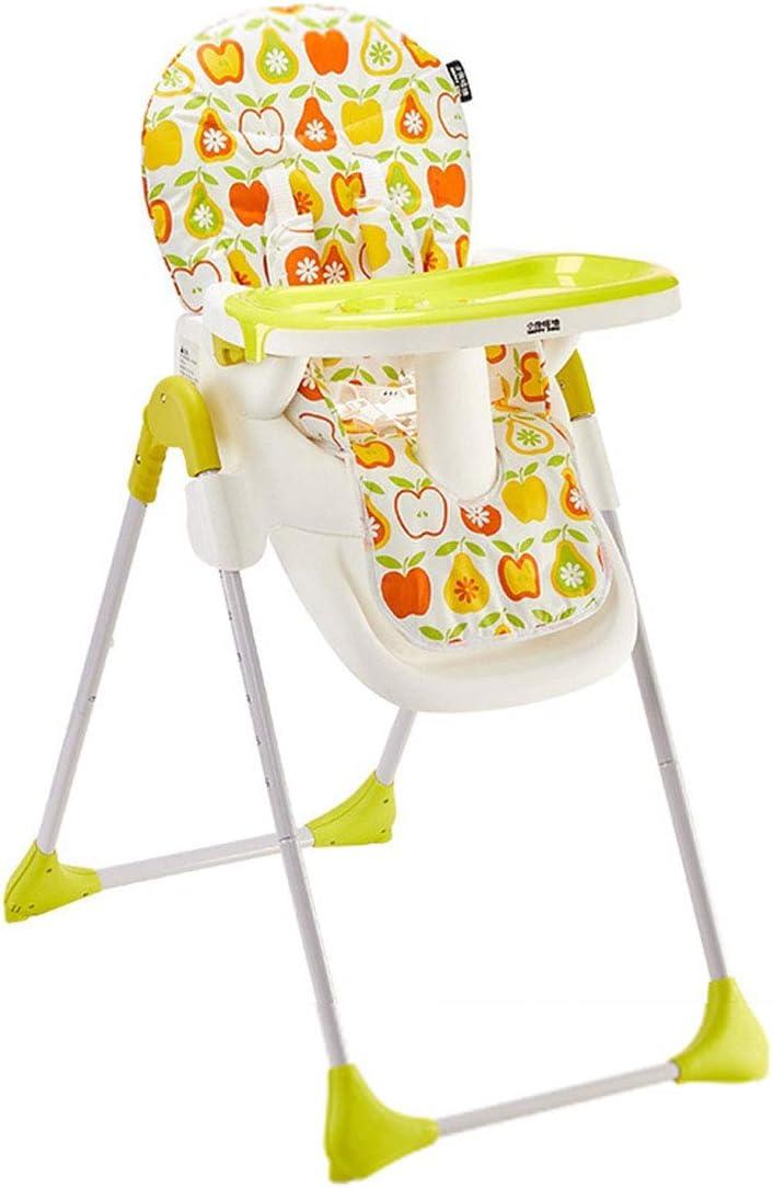 居心地の良い 取り外し可能なトレイモダンな折りたたみ椅子ベビーハイチェアブースターシートポータブルハイチェアと安全ベルトとジュニアシート 安全, Yellow