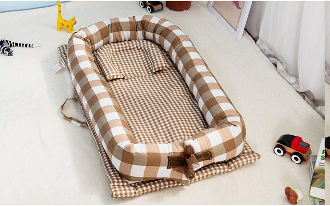 Reisebett Multifunktionale Kuschelnest f/ür Babys und S/äuglinge Kuschelbett Nestchen 90x55x15cm Babynestchen TETAKE Babynest 100/% Baumwolle