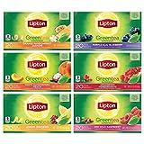 Lipton Flavored Green Tea Bags, Variety Pack 6 Pack 20 ct